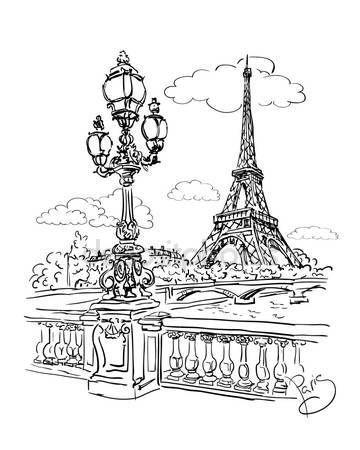 Eiffelova věž — Stockový vektor