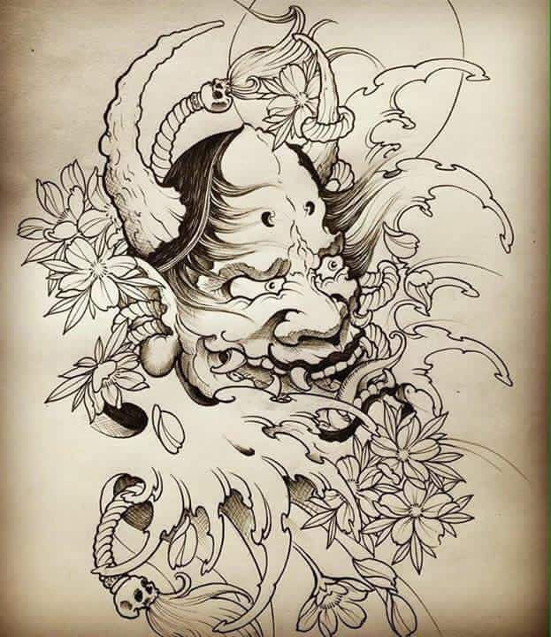 1000 ideas about oni tattoo on pinterest oni mask tattoo mask tattoo and hannya mask tattoo. Black Bedroom Furniture Sets. Home Design Ideas