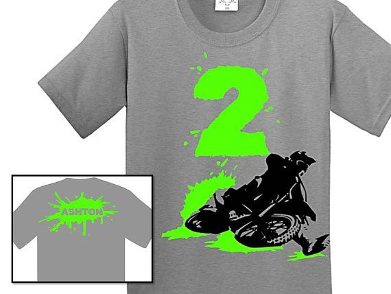 Dirt Bike Birthday Shirt by CRAAUS on Etsy