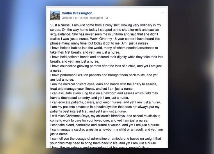 This Nurse Gave The Perfect Response To A Just A Nurse Insult Travel Nursing Companies Nurse Travel Trailer Insurance