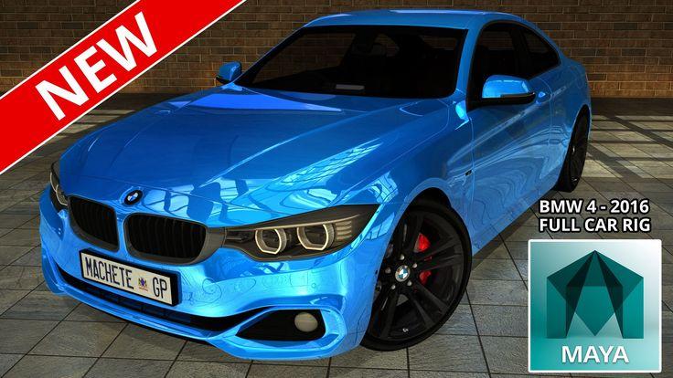 Autodesk Maya - BMW 4 Sport 2016 Full Car Rig (Free 3D Model Downloads)