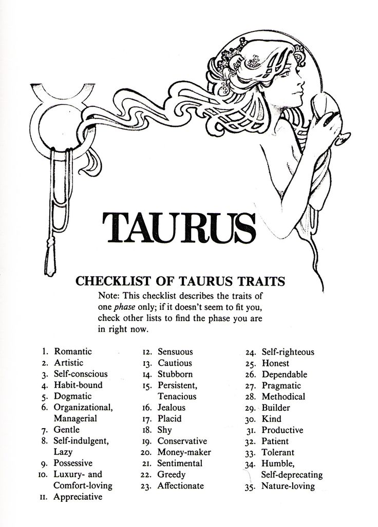Taurus Traits-Positive and Negative Characteristics