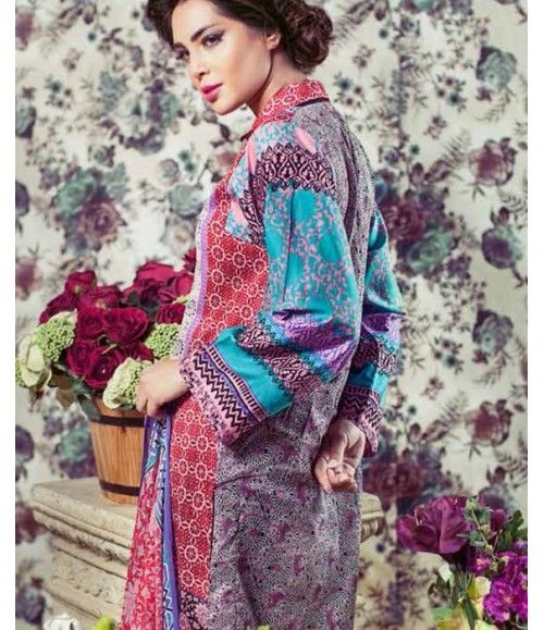 Feminine Embroidered Lawn Collection 2016 FEM_05A