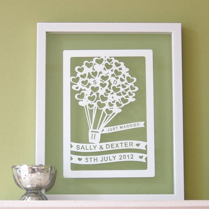 Personalized Wedding Anniversary Papercut Art By Antdesign On Etsy