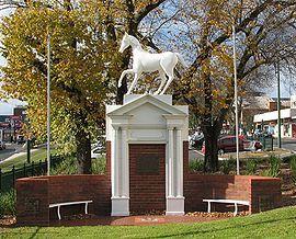 Box Hill White Horse. Whitehorse road, Box Hill, Melbourne.