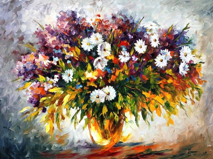 """""""Lilac and camomiles"""" by Leonid Afremov ___________________________ Click on the image to buy this painting ___________________________ #art #painting #afremov #wallart #walldecor #fineart #beautiful #homedecor #design #qwdfcvbf5667456534sewr"""