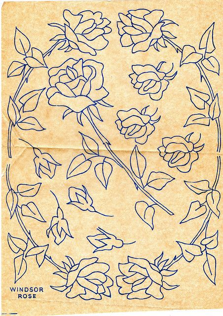 Windsor Rose Embroidery pattern