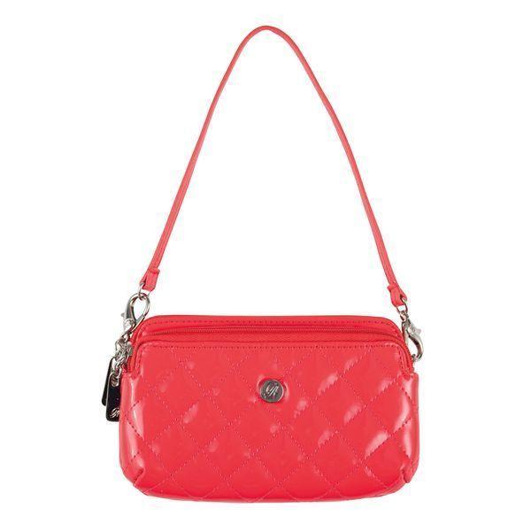 NEW Grace Adele Hand Bag Clip On-- Double Zip Phone Holder (Coral) #GraceAdele