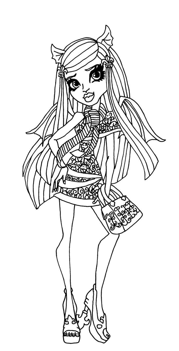 Beautiful Rochelle Goyle Monster High Coloring Pages