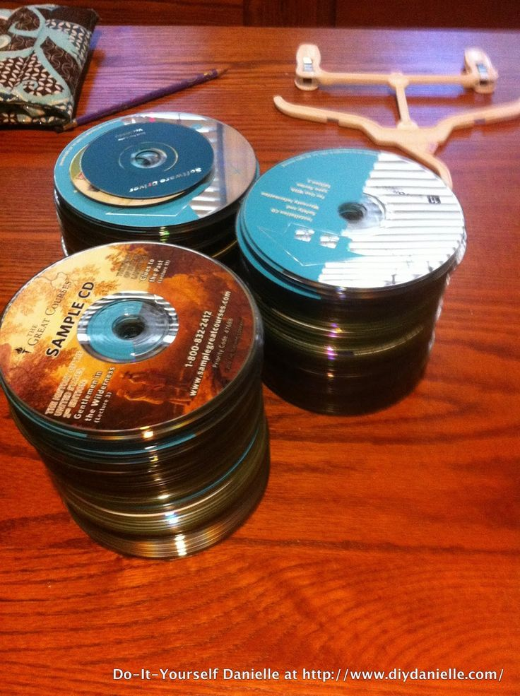 Old CDs I received to use for an upcycle project.                                                                                                                                                                                 More