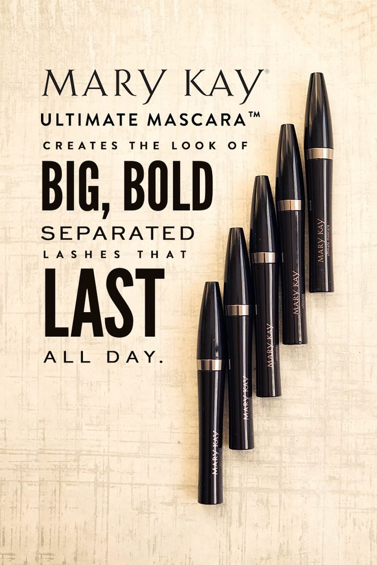 This extremely volumizing, superthickening, all-in-one formula creates the look of big, bold, separated lashes that last all day. Try Ultimate Mascara™ to help your eyes stand out! | Mary Kay