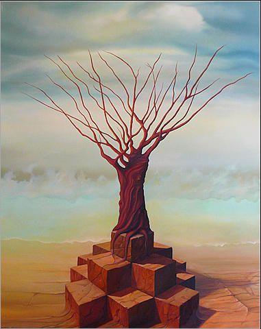 Drzewo 2 81 x 65 cm olej na płótnie