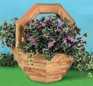 Basket Planter Woodworking Plan