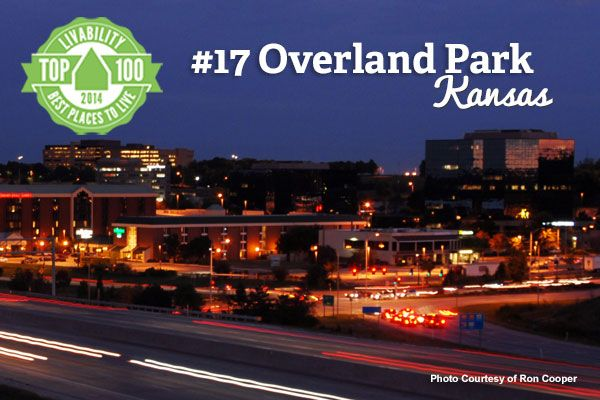 Hello Overland Park, Kansas! Our #17 on the Top 100 Best Places to Live