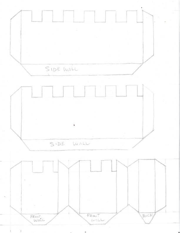 Сделать замок из бумаги своими руками схемы шаблоны, марта
