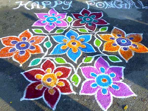 Happy cheerful flowers greet you at festival in India