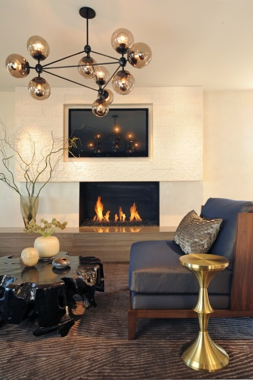 light, fireplace, chair