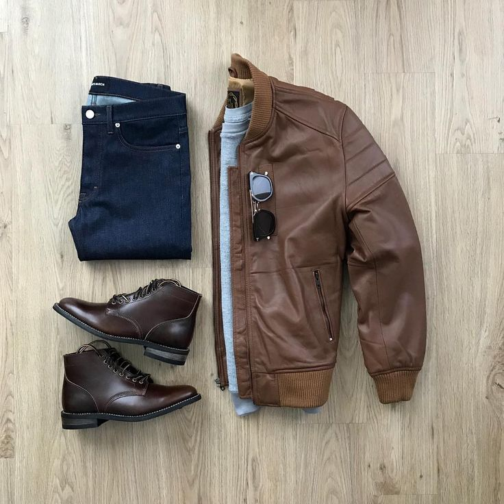 Brown leather jacket for the win! #menswear #mensfashion