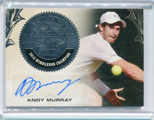 2015 Leaf Ultimate Tennis Andy Murray Big Finish Silver Auto Autograph 19/25