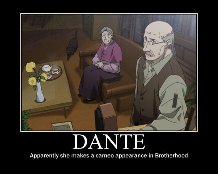 FMA Demot: Dante in Brotherhood!? by Angel-of-Alchemy-42.deviantart.com on @DeviantArt