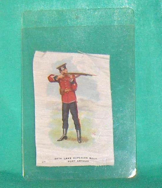96th Lake Superior Regt. Port Arthur Vintage Cigarette Silk Number 27