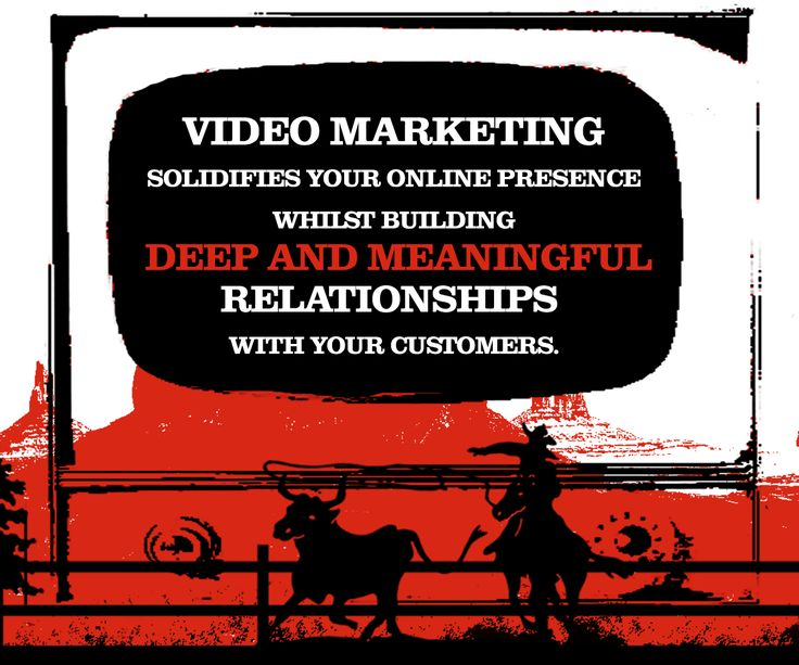Video Marketing solidifies your online presence whilst building deep and meaningful relationships with your customers.