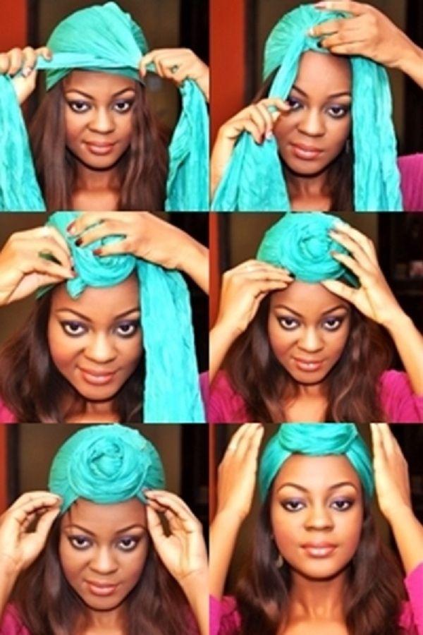 12 способов красиво завязать платое на голове