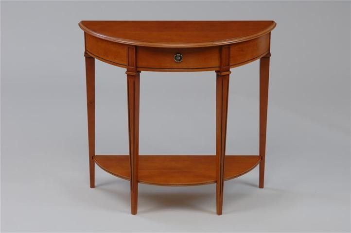 #Gloucester Teak Half Moon Hall #Table - Slight Second