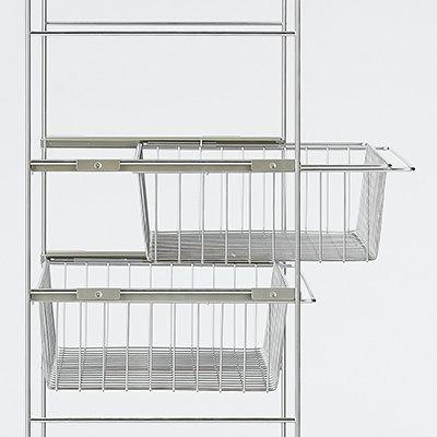 ステンレスユニットシェルフ・ステンレス追加用ワイヤーバスケット