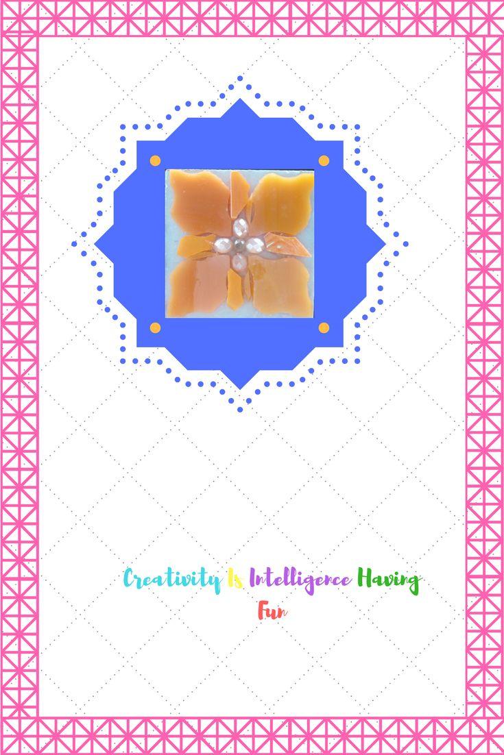 Mozaïek bloem mixed media kralen&glasmozaiek