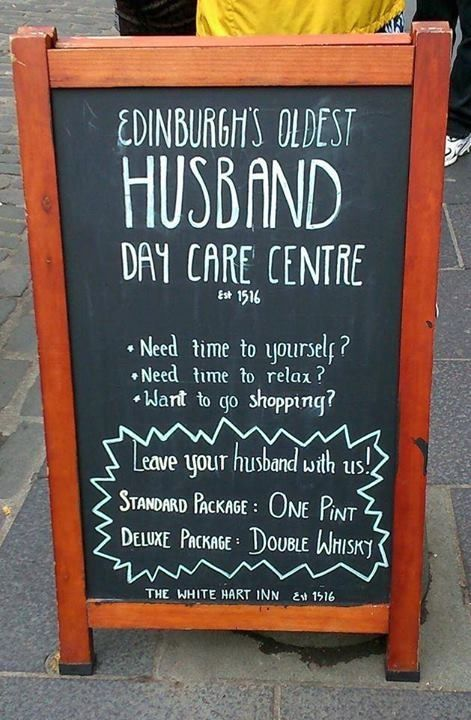 Edinburgh's oldest husband daycare | Scottish sayings and ...