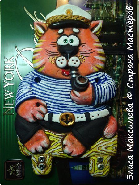 Картина панно рисунок Лепка Котик ты мой котик   панно-подвески Тесто соленое фото 5