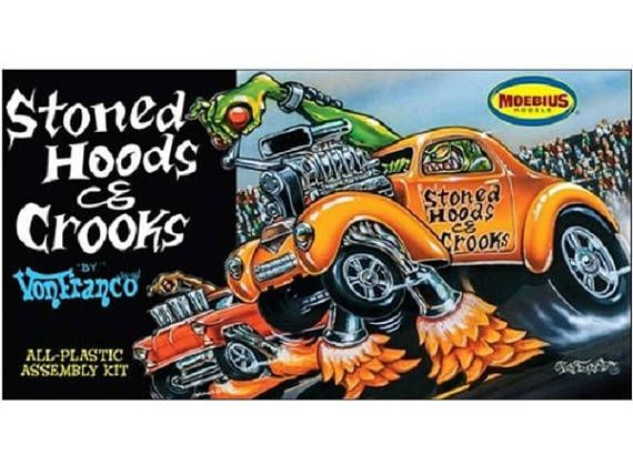 Moebius Stoned Hoods & Crooks by VonFranco 1/25 Scale Model Car ...