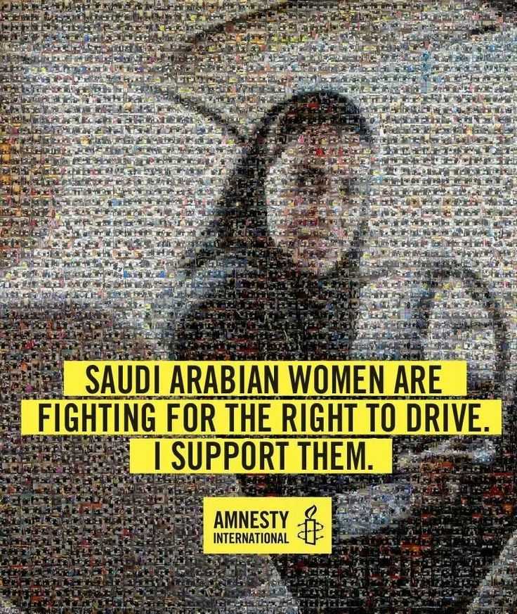 "womens right to drive in saudi arabia Slowly the tide in saudi arabia appears to be running in women's favour  ""and then they will get annoyed at having to drive her everywhere."