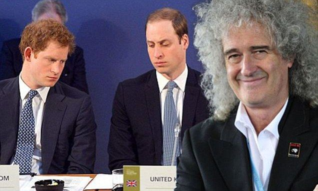 Brian May attacks Princes William and Harry for hunting