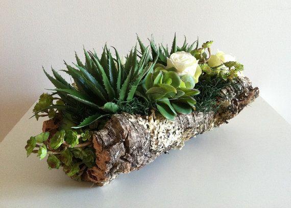 Modern Succulent Floral Arrangement  Ivory by ArtsFloralDesign, $72.00