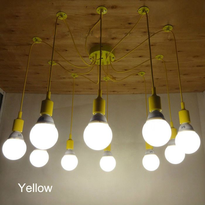 Northern Europe Style Simple Creative E27 Yellow Spider Lamp Pendant Lights