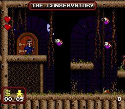 En JuegosMimo.com, juego de la familia addams para divertirse saltando totalmente gratis en esta aventura de plataformas de los personajes de miedo como miercoles y toda la familia addams de la super nintendo snes.