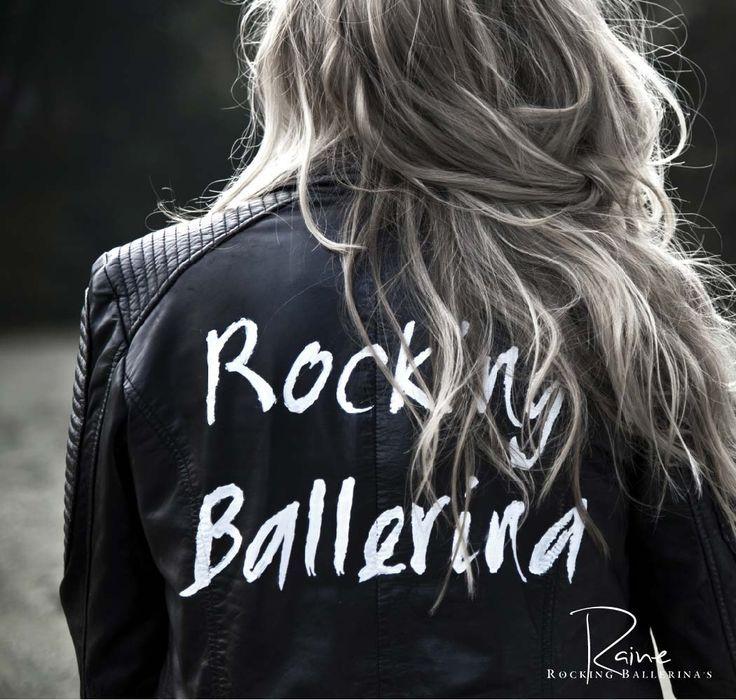 Jaqueta de couro personalizada Rocking Ballerina.