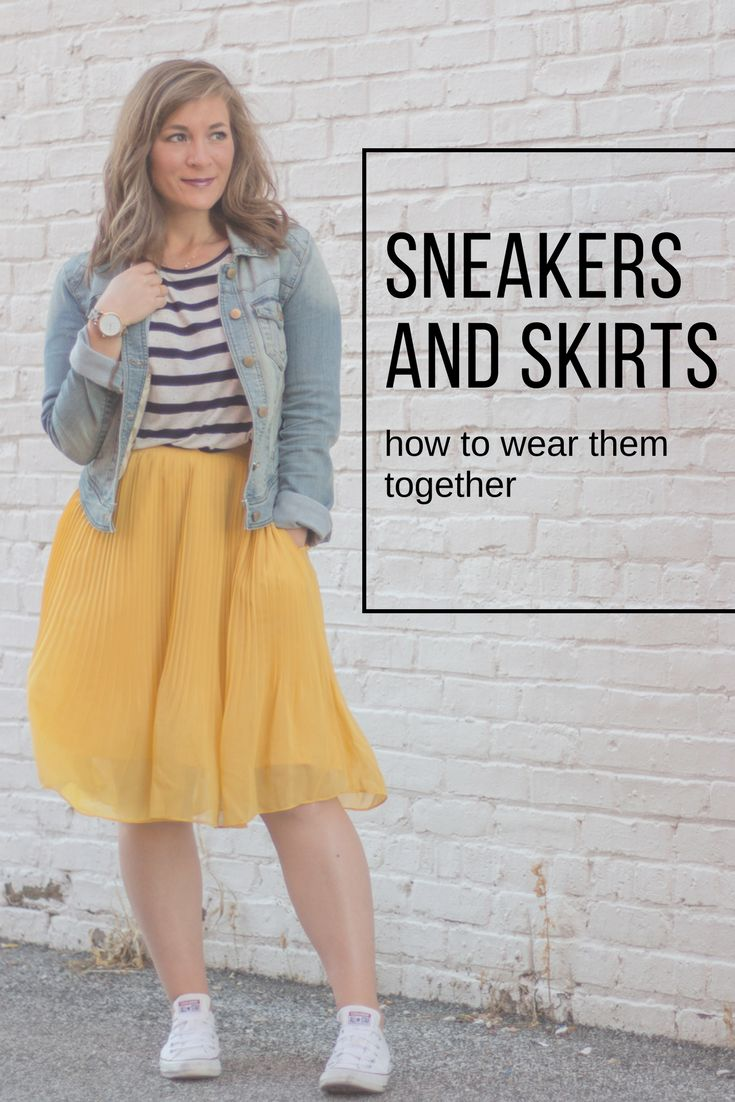 This is such a fun look for spring! Pair your favorite converse with a pleated skirt for a chic, comfortable outfit for brunch, errands or casual evening outfit idea.