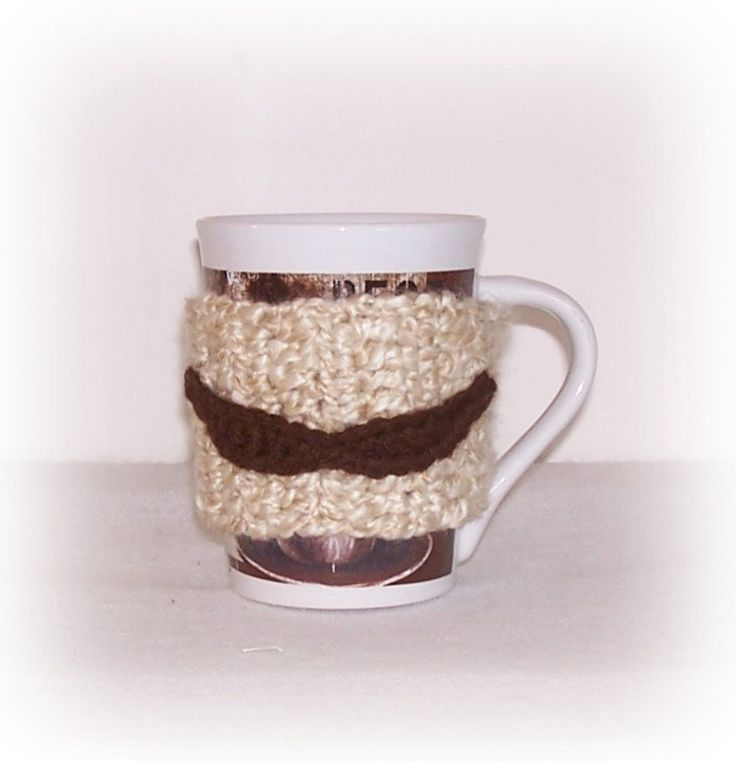 Best Coffee Mug Cozy Crochet Mustache Cup Wrap Father's Day Gift Mustache Coffee Cup Cozy For Him Dad Gift Brother Mustache Humor Cup Sleeve by ICreateAndCollect on Etsy