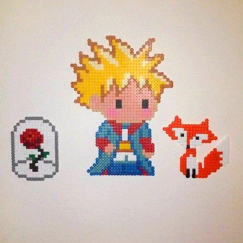 Le Petit Prince en perles à repasser - A little prince perler beads