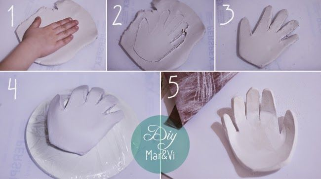 Regalos para el Día de la madre: Cuenco con la huella de la mano