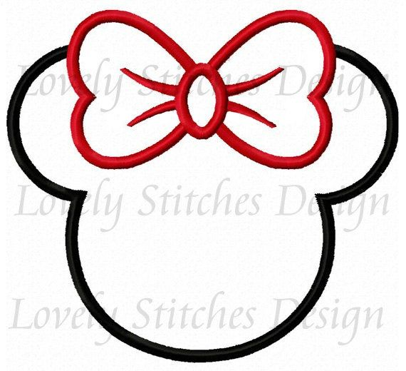 Minnie Mouse Head Applique Machine Embroidery Design No 0291 Etsy In 2021 Machine Embroidery Embroidery Template Machine Embroidery Designs