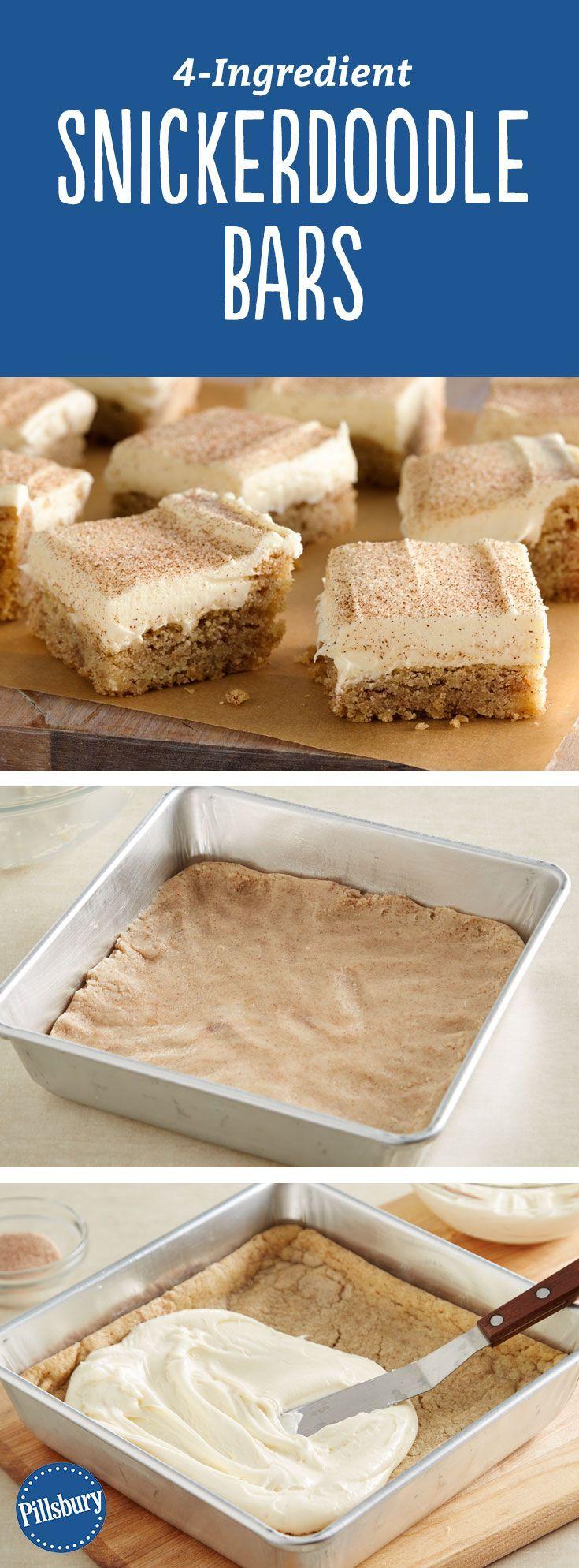 4-Zutaten-Snickerdoodle-Riegel 4-Zutaten-Snickerdoodle-Riegel: Diese 4-Zutaten-Snickerdoodle-Riegel aus Zuckerkeksteig werden zu jeder Jahreszeit zum Favoriten.