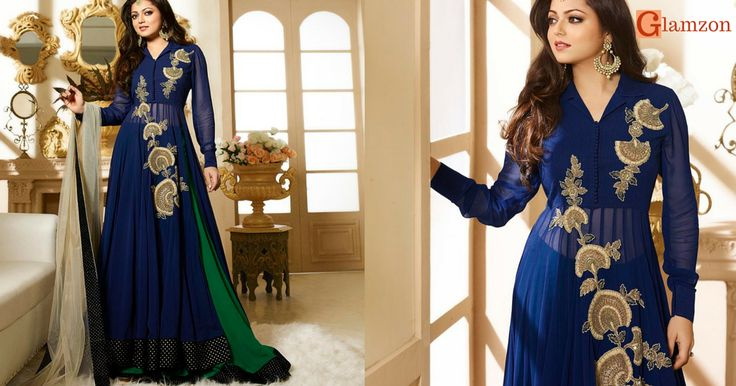 Shop for the latest collection of designer anarkali suit online. Madhubala anarkali suits are available at best price. High quatiy fabric material by original manufacturer of company. Free Shipping in India and worldwide shipping available.