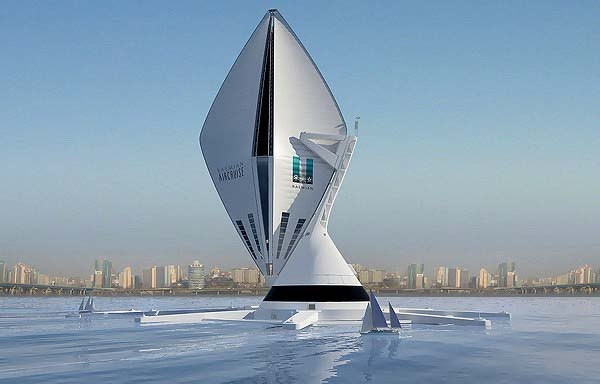 Future of air travel giant floating hotels..