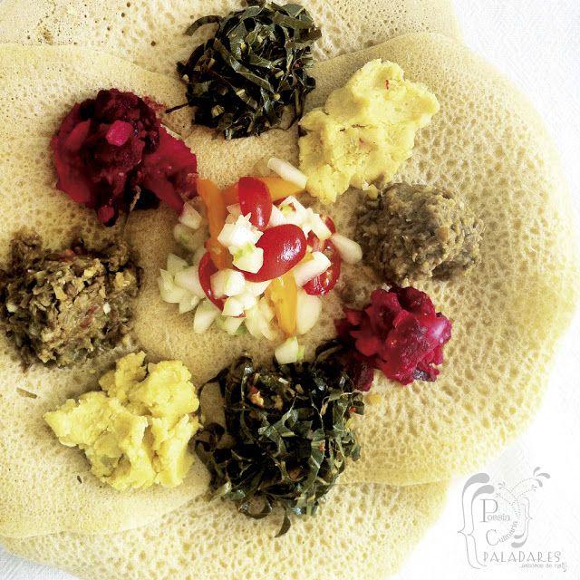 Paladares {Sabores de nati }: Menú vegetariano de Etiopía con varios Wats / acompañantes