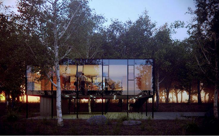 Fachada do edifício atua como um elemento divisor, que define as características da relação entre o interior e exterior
