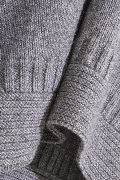 Gray cashmere Slips on 100% cashmere Hand wash Designer color: Gray Marl